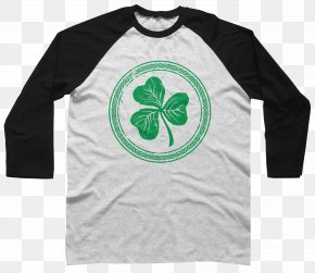 Shamrock - Long-sleeved T-shirt Long-sleeved T-shirt Raglan Sleeve PNG