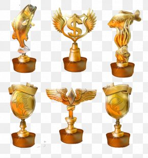 Gold Trophy Pattern - Pathfinder Roleplaying Game Dungeons & Dragons D20 System Graphical User Interface PNG