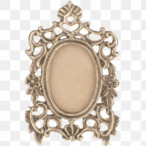 Brass Retro Frame - Picture Frame PNG