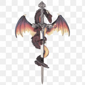 Hand-painted Posters - Figurine Sword Dragon Collectable Sculpture PNG