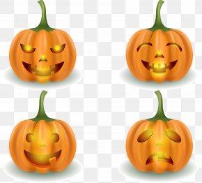 Horror Halloween Pumpkin Vector - Jack-o-lantern Calabaza Halloween Pumpkin PNG