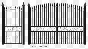 Fence - Fence Gate Wrought Iron Steel Sheet Metal PNG