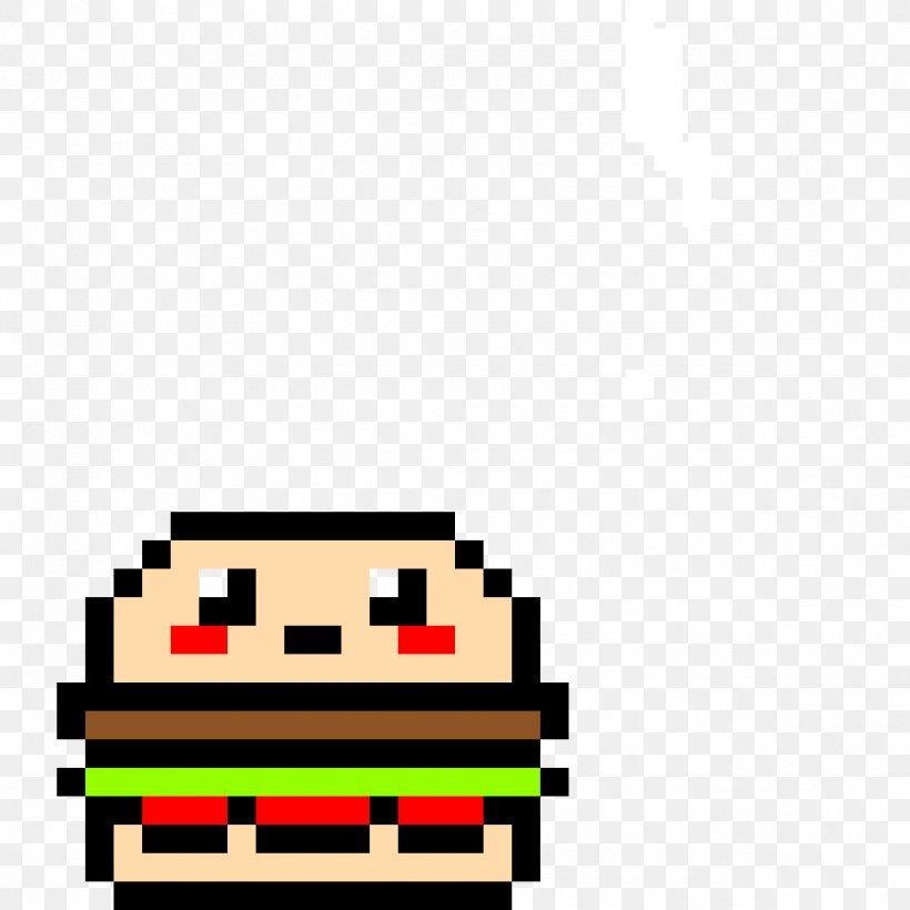 Hamburger Cheeseburger French Fries Pixel Art Drawing Png