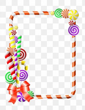 Candy Borders - Lollipop Candy Cane Clip Art PNG