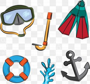 Swimming Creative - Underwater Diving Download Diving Mask PNG