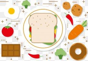 Nutrition Breakfast Vector - Coffee Breakfast Pancake Sandwich PNG