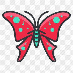Cartoon Butterfly - Monarch Butterfly Clip Art PNG