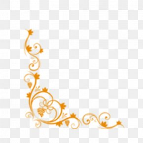 European-style Flower Frame - Picture Frame Gold Download PNG