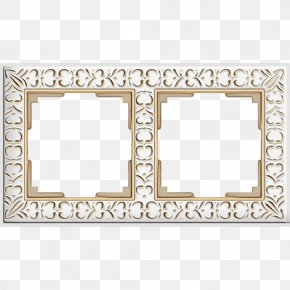 Picture Frame Rectangle - Black And White Frame PNG