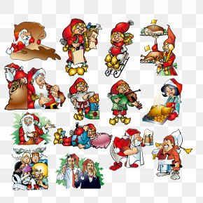 Santa Claus - Pxe8re Noxebl Santa Claus Christmas Euclidean Vector Illustration PNG