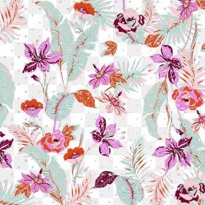 Textile Fabric Floral Patterns - Floral Design Textile Flower Pattern PNG