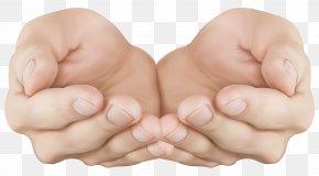 Cupped Hands Transparent Clip Art Image - Hand Clip Art PNG