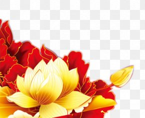 National Day Peony Element - Moutan Peony National Day Of The Peoples Republic Of China PNG