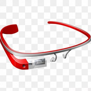 Virtual Red Glasses - Google Glass ICO Icon PNG