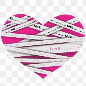Heart-shaped Vector Material Ruler PNG