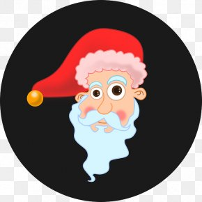Hand-painted Santa Claus Cartoon - Santa Claus Christmas Joke Clip Art PNG