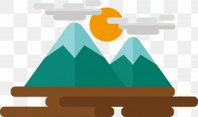 Cartoon Cute Mountain - Cartoon Mountain Icon PNG