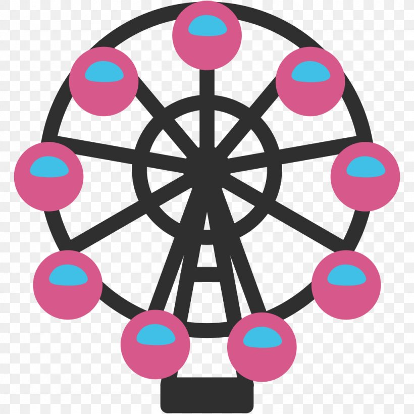 Emoji SMS Text Messaging Handheld Devices Ferris Wheel, PNG, 1024x1024px, Emoji, Android, Area, Email, Ferris Wheel Download Free
