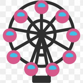 Wheel - Emoji SMS Text Messaging Handheld Devices Ferris Wheel PNG