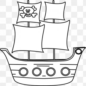 Ship Outline - Piracy Pirate Ship Free Content Clip Art PNG
