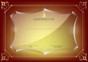 Red Certificate Template Image - Template Academic Certificate Wallpaper PNG