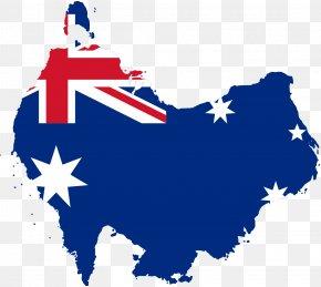 Australia - Flag Of Australia Map Clip Art PNG