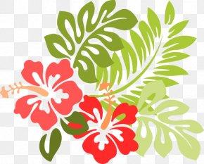 Tropical Line Cliparts - Hawaiian Hibiscus Clip Art PNG
