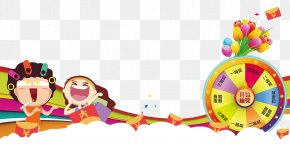 Cartoon Man Big Turntable Draw - Poster Paper PNG