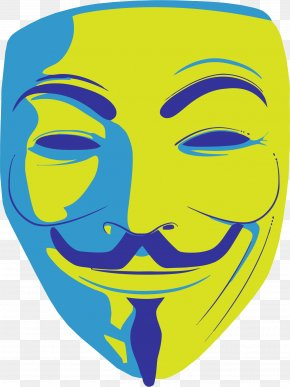 Anonymous Mask - Anonymous Guy Fawkes Mask Clip Art PNG