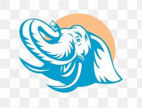 Laughing Cartoon Elephant Head Logo - Elephant Logo Clip Art PNG