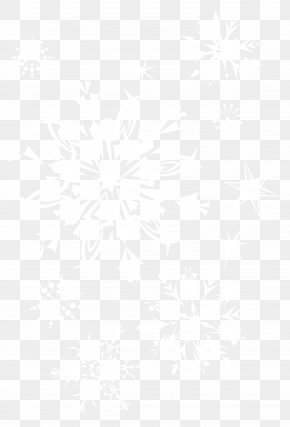 Transparent Snowflakes Picture - Line Symmetry Black And White Point Pattern PNG