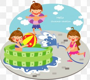 Children - Swimming Pool Child Clip Art PNG