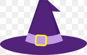 Purple Witch Hat - Halloween Candy Corn Clip Art PNG