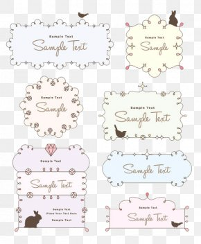 Cute Cartoon Border Texture - Picture Frame Drawing Euclidean Vector PNG