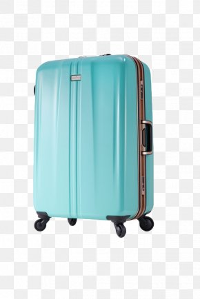Beautiful Blue Suitcase Actual Product - Hand Luggage Blue Baggage Suitcase PNG