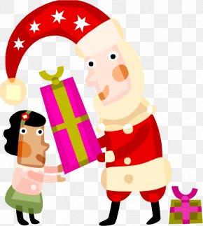 Christmas Vector Material - Santa Claus Christmas Gift Christmas Gift Holiday PNG