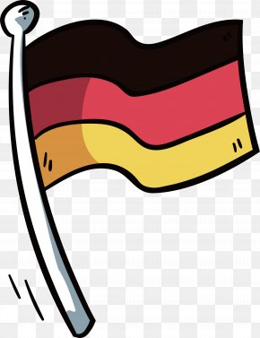 Hand-painted German Flag - Flag Of Germany National Flag PNG