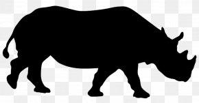 Rhino - Rhinoceros Silhouette Animal Clip Art PNG