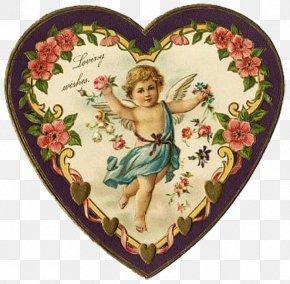 Valentine's Day - Valentine's Day Victorian Era Paper Ephemera Gift PNG