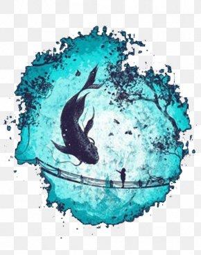 Black Whale - Artist Drawing Printmaking Illustration PNG