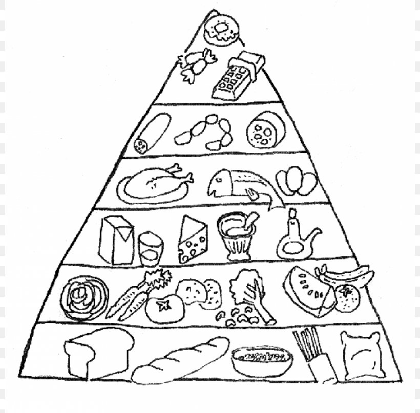 Food Pyramid Coloring Book Food Group Nutrition, PNG, 800x807px, Food Pyramid, Area, Black And White, Child, Christmas Tree Download Free