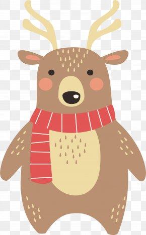 Reindeer With Scarves - Reindeer PNG
