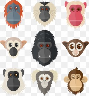 Hand-painted Gorilla Animal Picture Element - Primate Lemur Gorilla Orangutan PNG