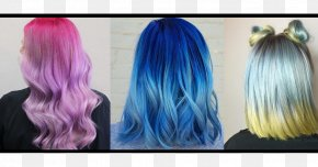 Hair - Long Hair Blue Hair Coloring Black Hair Brown Hair PNG