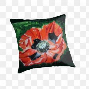 Poppy Anzac - Cushion Throw Pillows PNG