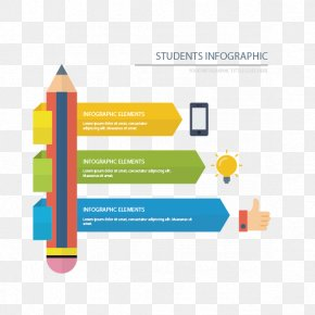 Infographic Vector Pen - Student Infographic Education Icon PNG