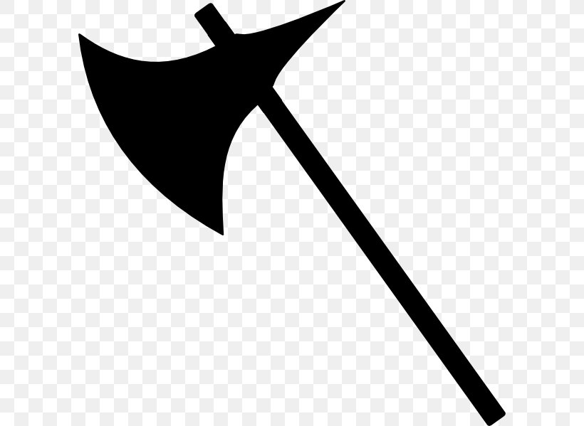 Battle Axe Clip Art, PNG, 600x599px, Battle Axe, Axe, Black And White, Dane Axe, Drawing Download Free