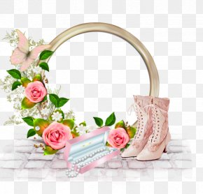 Heels Pearl Pink Flower Photo Frame - Birthday Cake Happy Birthday To You PNG