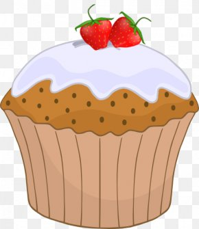 Strawberry Clip Art - Cupcake Muffin Frosting & Icing Birthday Cake Carrot Cake PNG