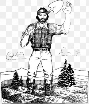 Paul Bunyan - Paul Bunyan And Babe The Blue Ox Coloring Book Drawing Tall Tale PNG